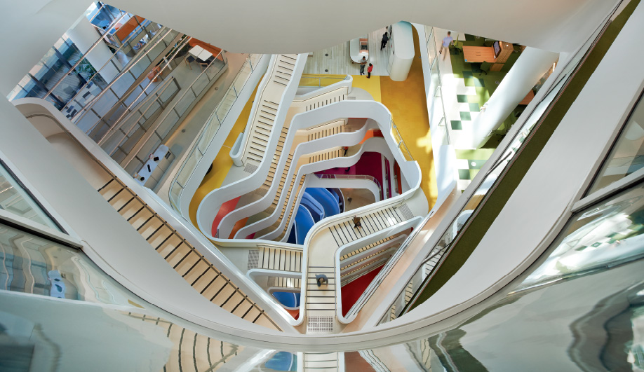 Hassell designed the wellness-inspired Medibank HQ in Melbourne, Australia