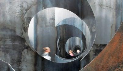 A Steel Maze Navigates Belgium's Coal Mining Past