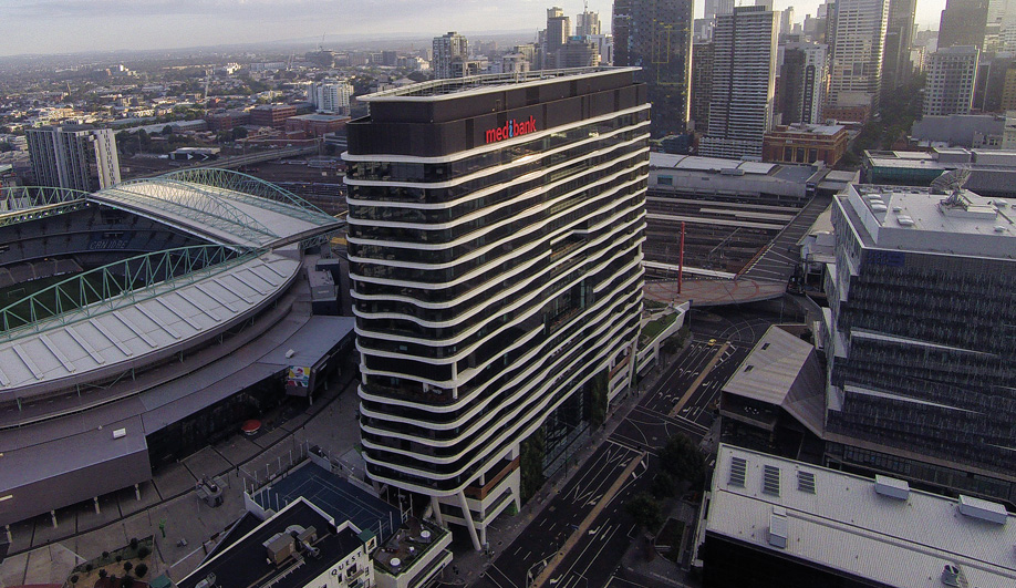 The new headquarters is in the Docklands, Australia's largest urban renewal project, which has seen three square kilometres of abandoned land outside Melbourne transformed into a major office, entertainment and transportation hub.