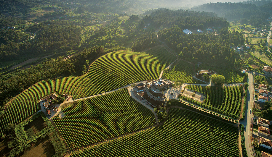 The Monverde Hotel is surrounded by the vineyards of Quinta daLixa, 60 kilometres east of Porto.