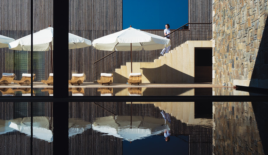 A spa, complete with indoor and outdoor pools, a Turkish bath and a sauna, offers signature vinotherapy treatments.