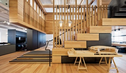 Cox Architecture's Warm Wood-Clad HQ in Melbourne