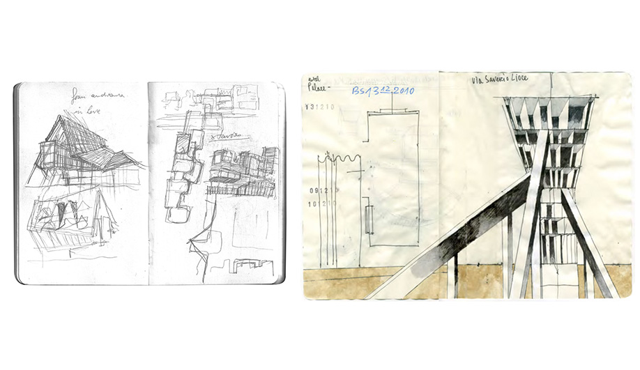 Drawings by Beniamino Servino