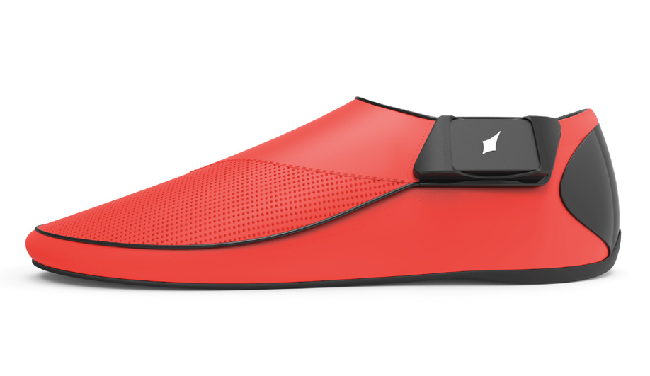 Lechal footwear offers an alternative to wrist-based sports and health devices. They track calories and footsteps; and via Bluetooth, each shoe vibrates to provide hands-free navigation.