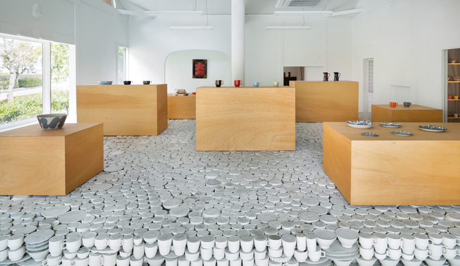 A Stunning Floor Made of Porcelain Vessels