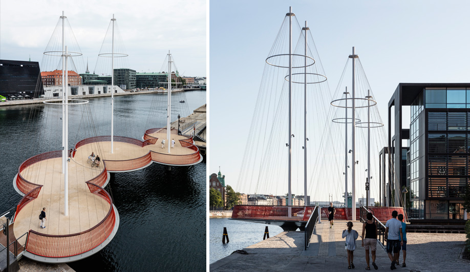 Olafur Eliasson's Fishing Boat-Inspired Bridge in Copenhagen