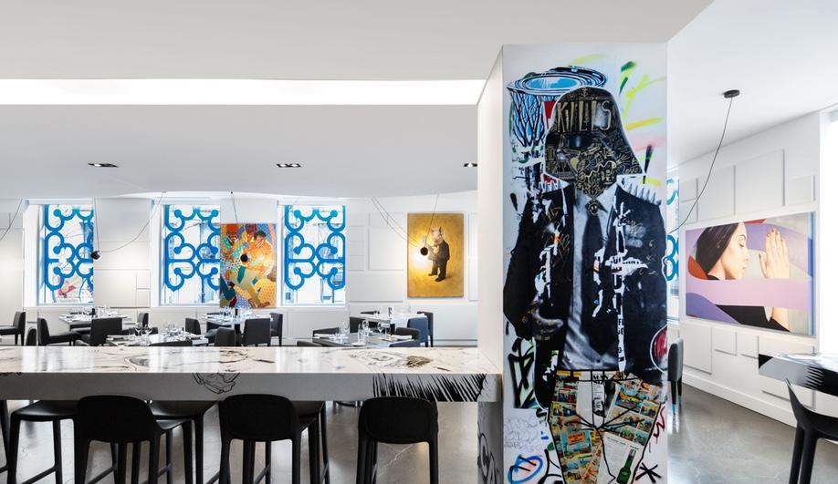 An Art-Filled Restaurant in Montreal