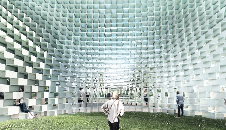 Concept renderings of the 2016 Serpentine Pavilion by BIG.