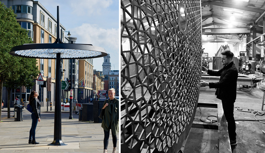 A Multimedia Light Post and Community Hub in London