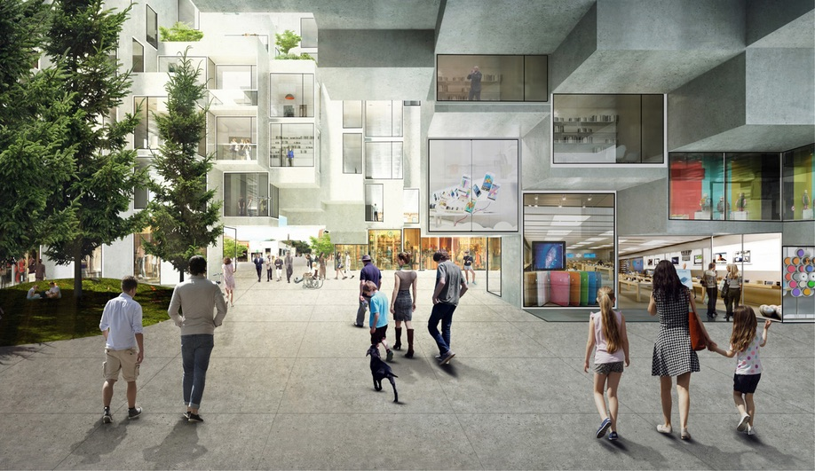 Concept image of BIG's King Street West project in Toronto