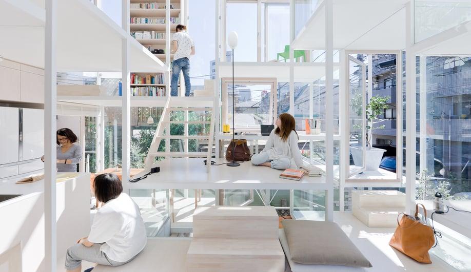 House NA in Tokyo, Japan, by Sou Fujimoto / photo by Iwan Baan
