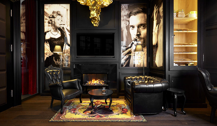 Image of the Kameha Grand Zurich smokers' lounge