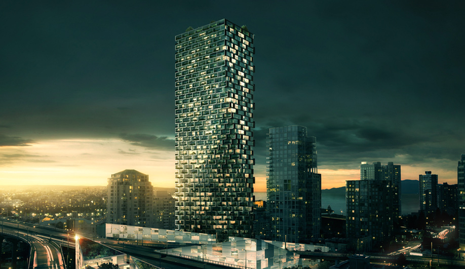 Concept image of BIG's Vancouver House project