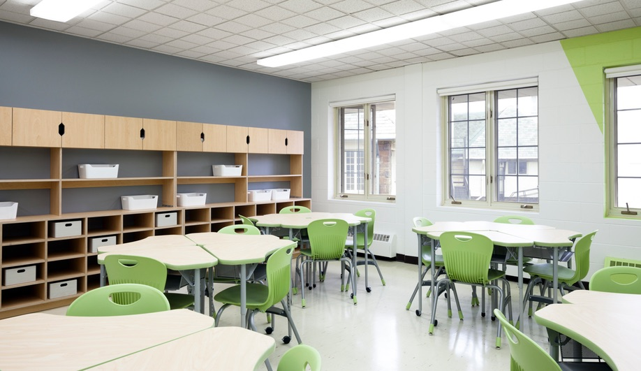 Modern Classroom Floor Plans ~ A colourful modern elementary school in quebec azure