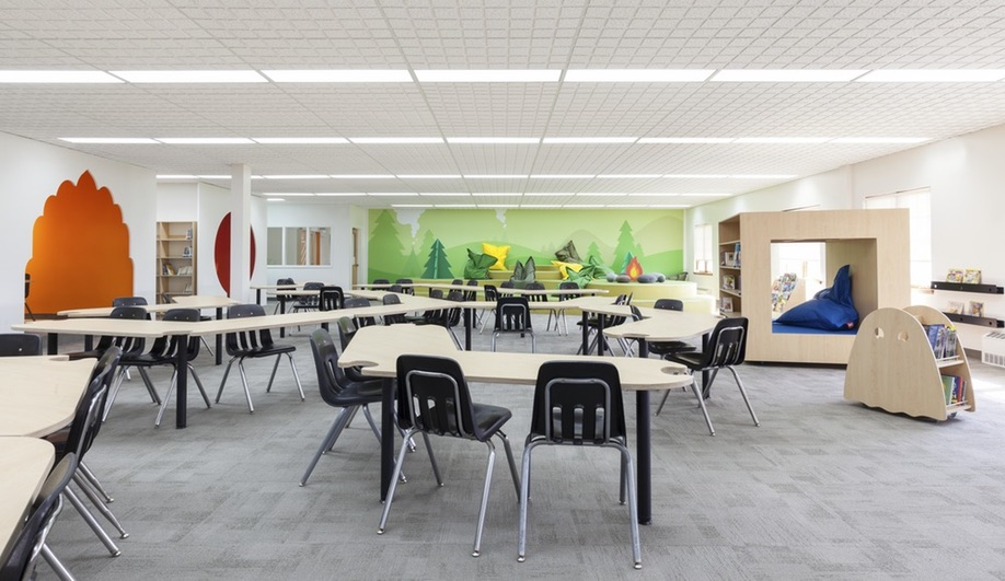 Classroom Design Articles ~ A colourful modern elementary school in quebec azure