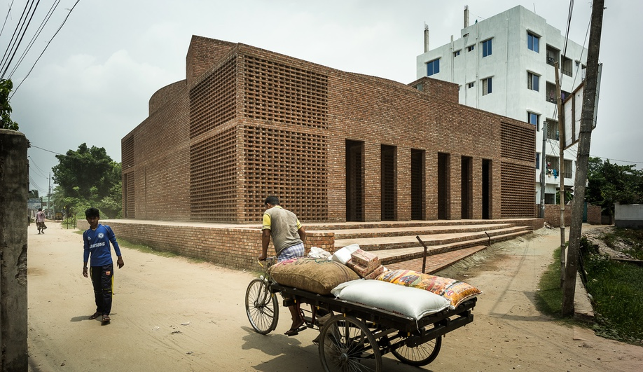 Bait Ur Rouf Mosque, in Dhaka, Bangladesh, was designed by Marina Tabassum and completed in 2012.
