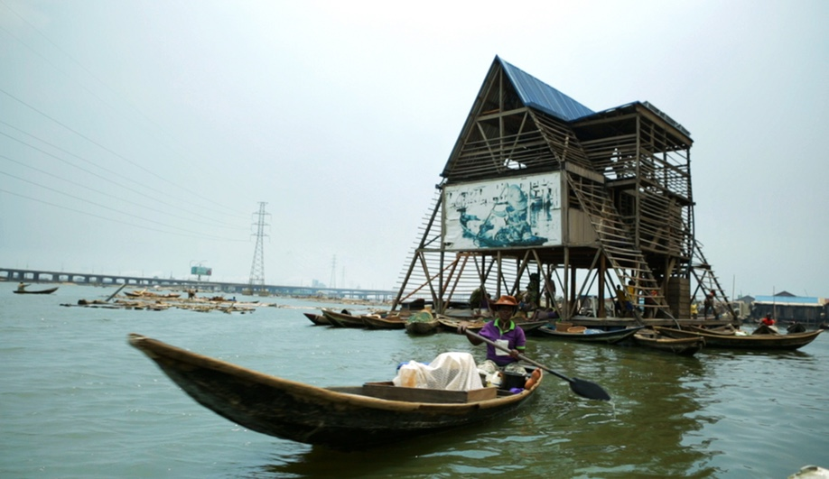 Makoko Floating School, in Lagos, was deisgned by NLÉ - Shaping the Architecture of Developing Cities / Kunlé Adeyemi. Completed in 2013, it provides space for education and cultural programming for the coastal stilt settlement of Makoko.