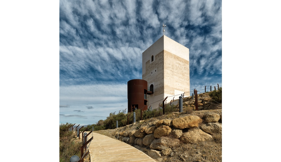 The Nasrid Tower Restoration, completed by Castillo Miras Arquitectos in 2010, included the addition of a cylindrical stair structure and a new pathway to the 13th-century tower.