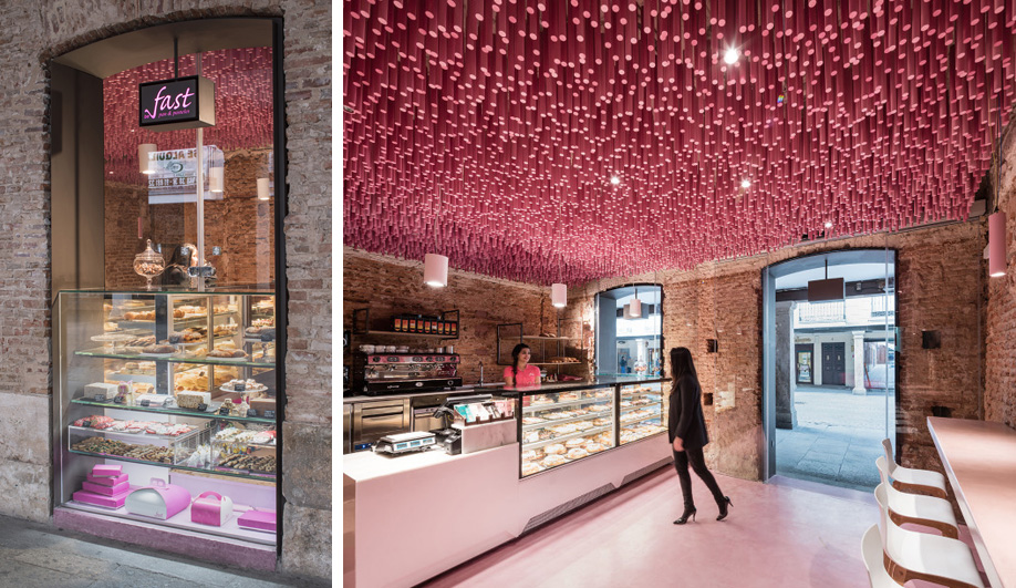 A Madrid Pastry Shop That's Extra Pretty in Pink