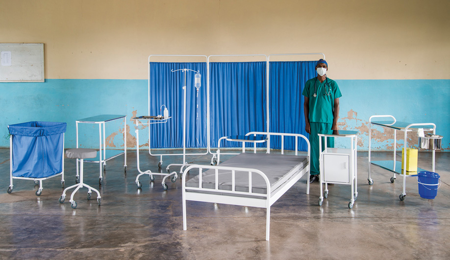 Image of Super Local design studio's hospital bed, trolleys and privacy screens, made by local Malawians