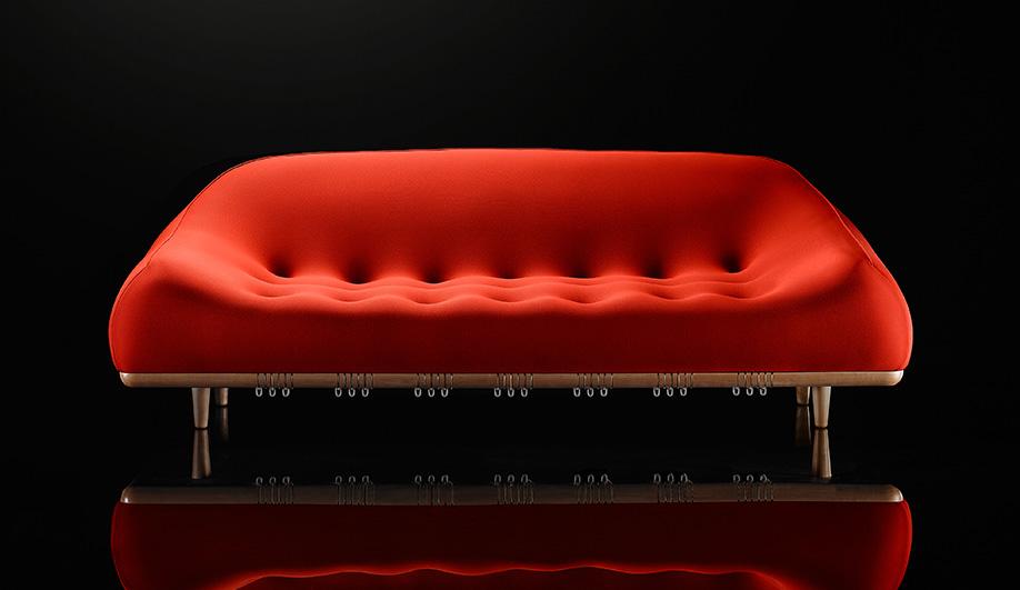 Mellow sofa by Bernhardt Design, seen at NeoCon 2016