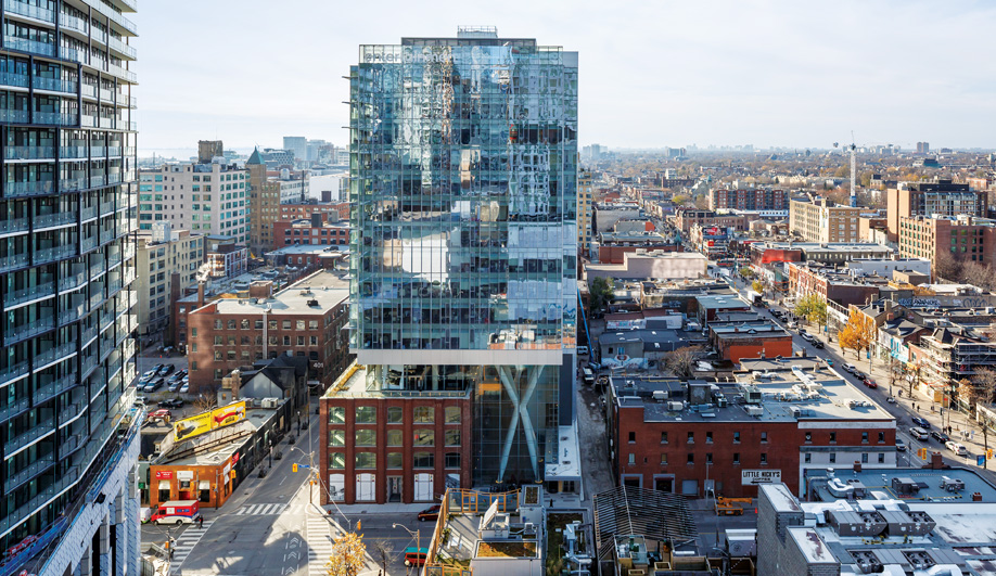 This Toronto Tower Incorporates Brick-and-Beam History