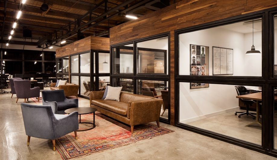 Private meeting rooms and offices at the VICE office in Toronto's Liberty Village