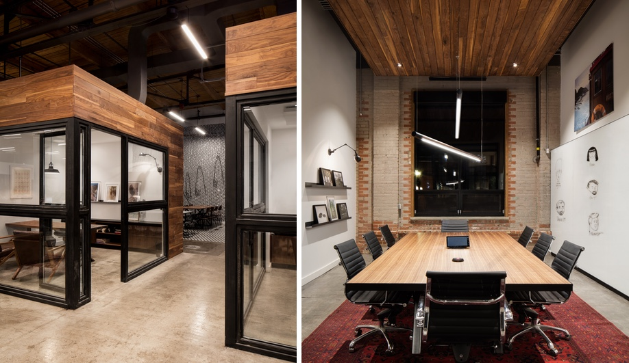 Private meeting spaces at the new Toronto VICE office