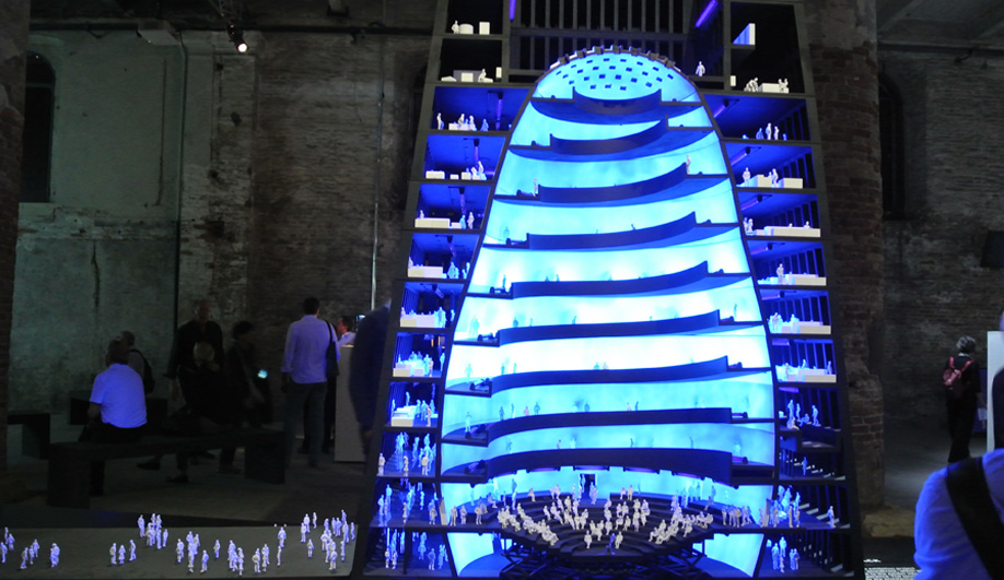 Boris Bernaskoni's Matrex building at the 2016 Venice Architecture Biennale