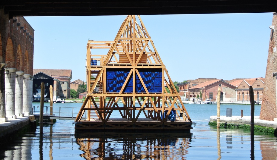 Kunle Adeyemi's floating school at the 2016 Venice Architecture Biennale