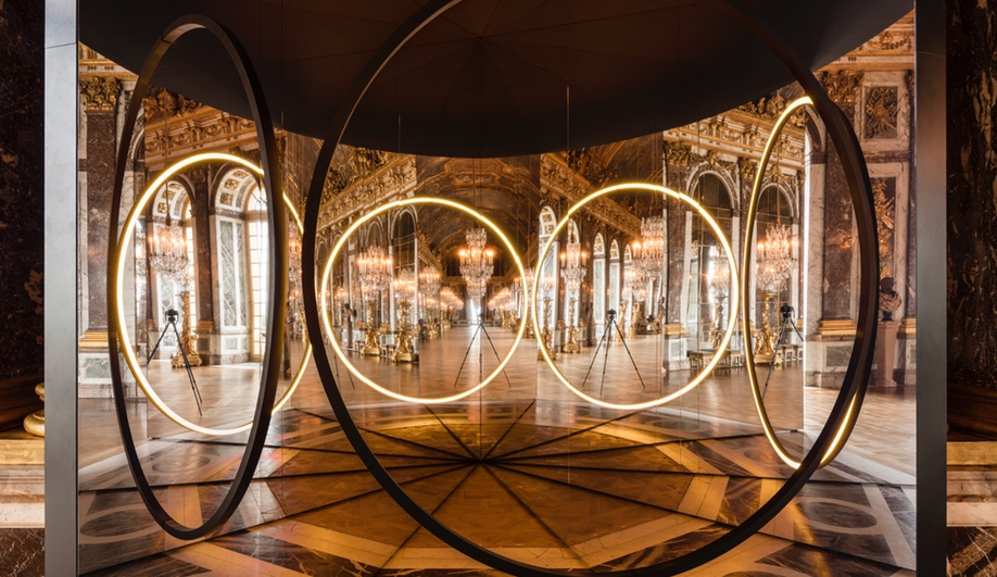 Your sense of unity, an installation from Eliasson's Versailles exhibit