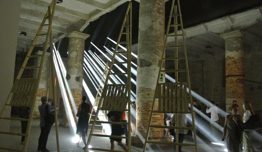Transsolar's exhibit at the 2016 Venice Architecture Biennale