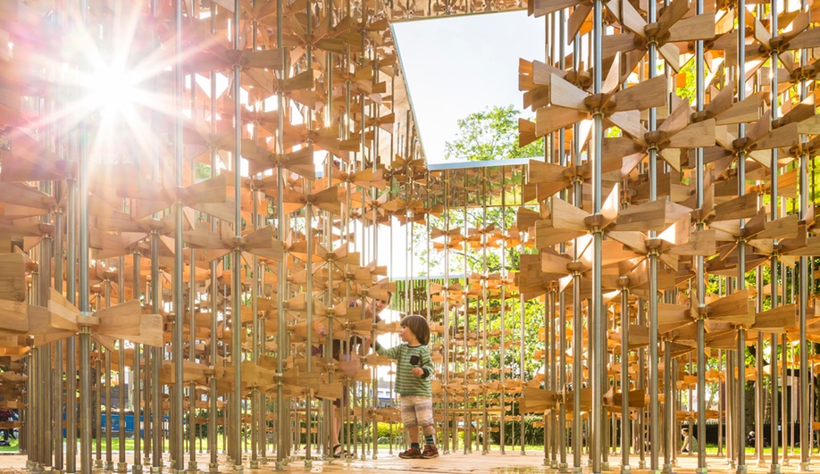 Pinwheel Pavilion, as seen at the 2016 London Festival of Architecture