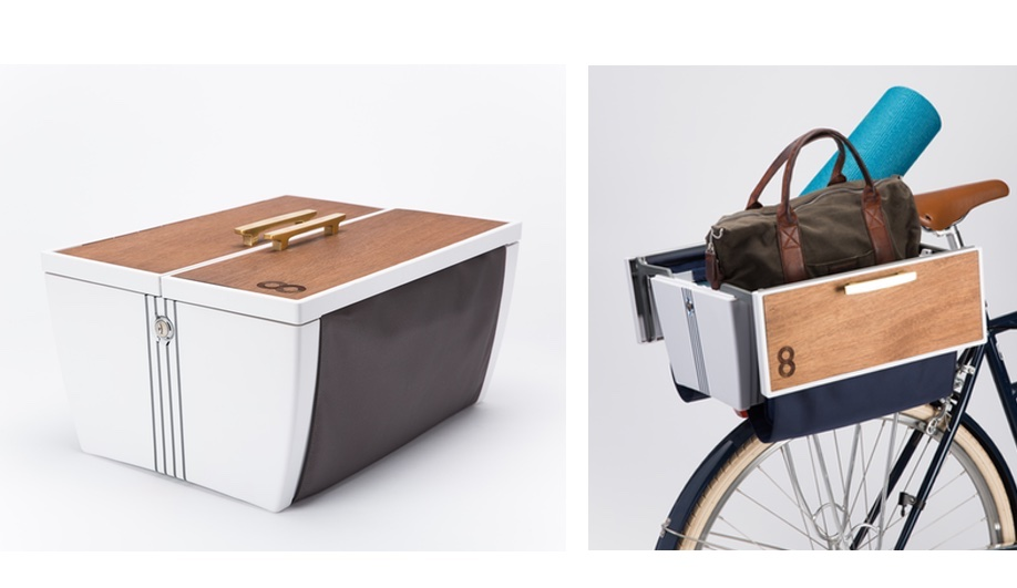 Cool bike accessories: the Buca Boot is inspired by a car trunk.