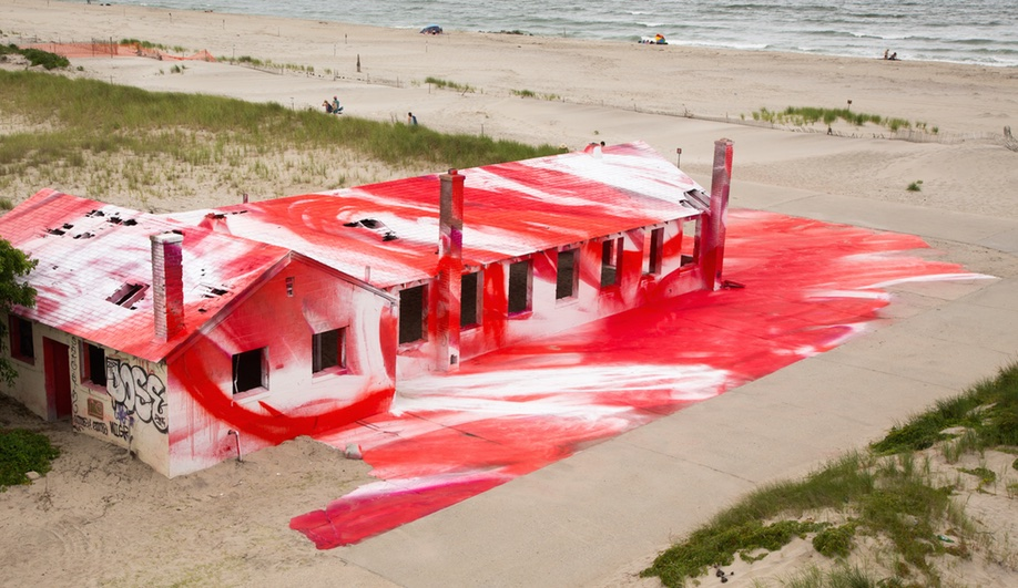 Rockaway! by Katharina Grosse, one of Azure's top summer pavilions and installations for 2016.