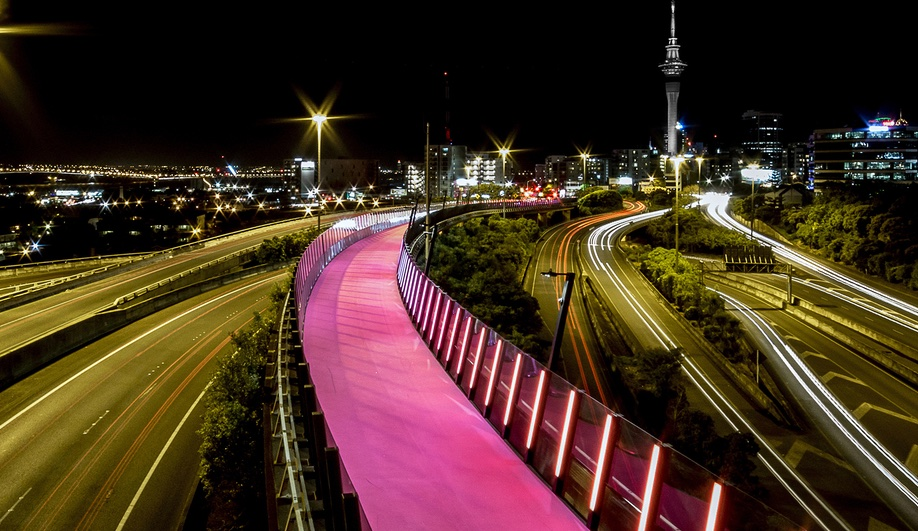 A Shocking-Pink Cycleway in New Zealand