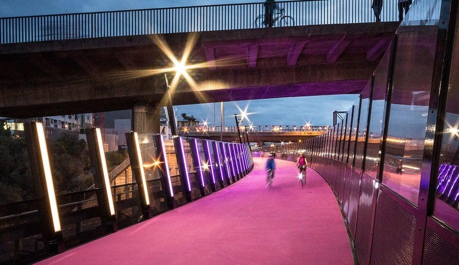 Pink-cycleway-New-Zealand-Azure