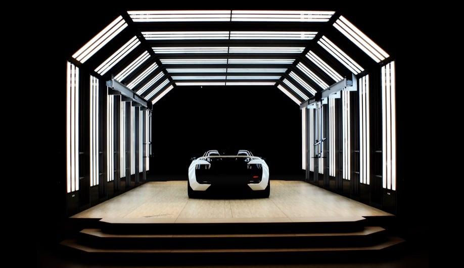A Futuristic LED Light Tunnel