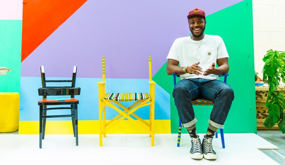 Yinka Ilori Turns Waste Into Bright, Bold Furniture