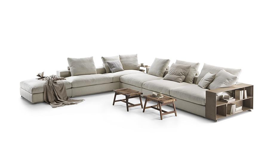 Flexform 39 s groundpiece sofa turns 15 azure magazine for Flexform groundpiece