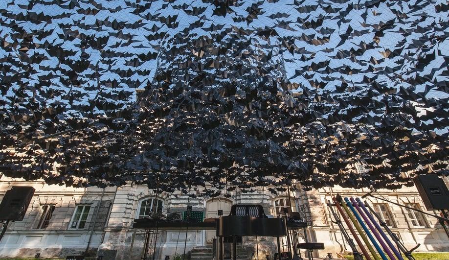 Didzis Jaunzems bats installation Latvia
