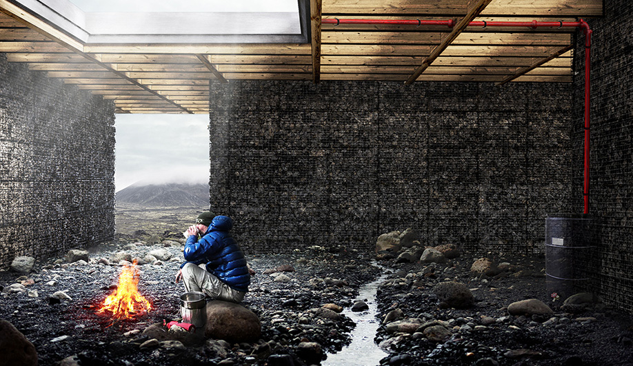 A Trekking Cabin in Iceland's Rugged Backcountry