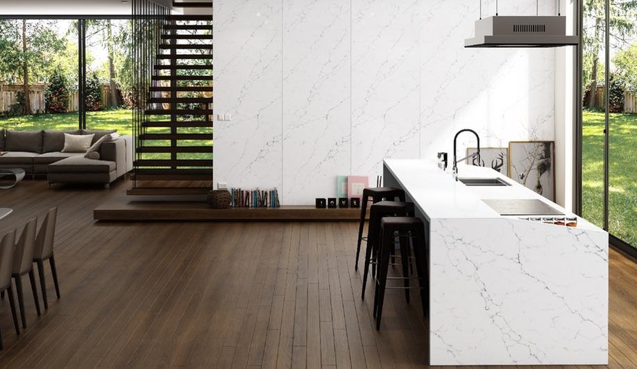 vicostone white marble-look quartz surfacing