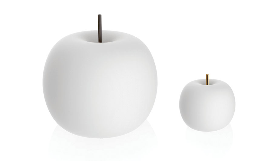Sold in table and ceiling models, the Kushi lamps for Kundalini won a German Design Award earlier this year.