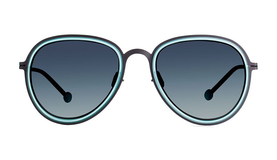 A combination of beta titanium and TR90 thermoplastic makes ultra-thin rims possible in Modo's VS1 eyewear.