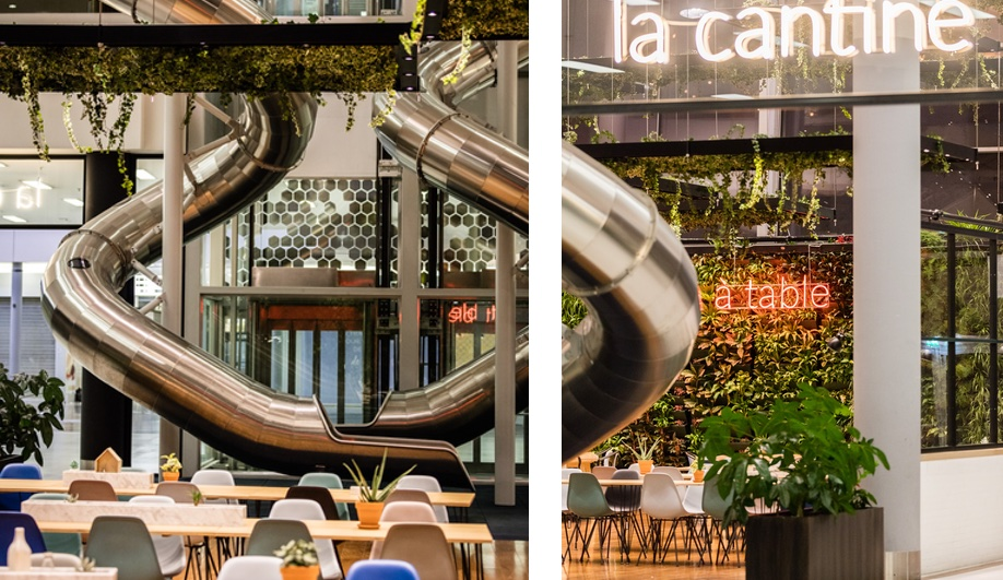 this cool paris mall has slides and hanging gardens azure magazine. Black Bedroom Furniture Sets. Home Design Ideas