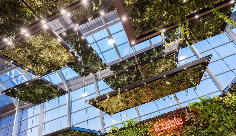 this cool paris mall has slides and hanging gardens azure magazine