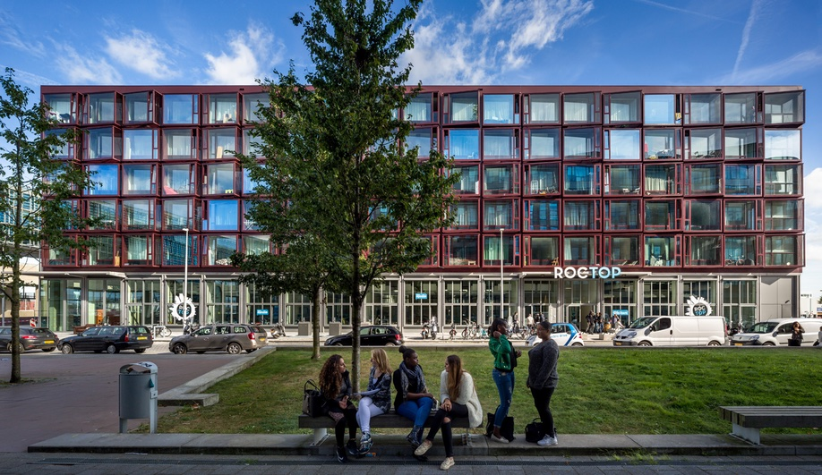 A Modern Student Residence on a Former Amsterdam Shipyard