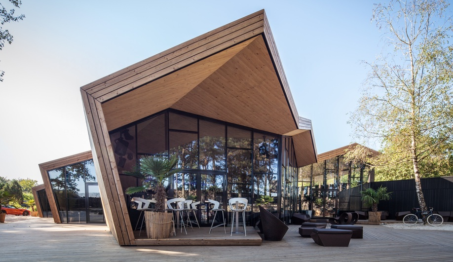 Beach Club in Luxembourg Adds Origami-Inspired Restaurant