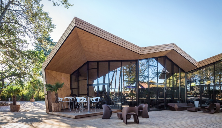 Beach Club In Luxembourg Adds Origami Inspired Restaurant